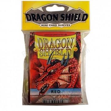 Dragon Shield Mini Sleeves - Red (50)