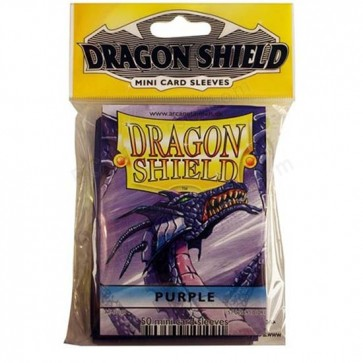 Dragon Shield Mini Sleeves - Purple (50)