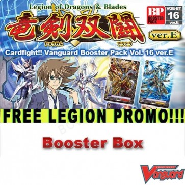 BT16e Legion of Dragons & Blades (English) Cardfight Vanguard Booster Box