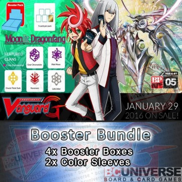 G-BT05 Moonlit Dragonfang Cardfight Vanguard G Booster Box Bundle
