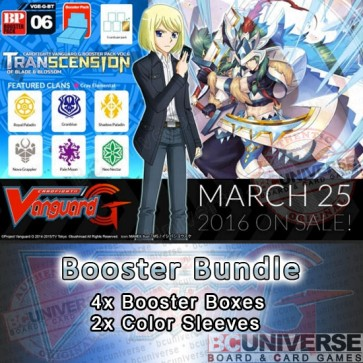 G-BT06 Transcension of Blade & Blossom Cardfight Vanguard G Booster Box Bundle