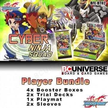 BT02 Cyber Ninja Squad (English) Future Card Buddyfight Player Bundle