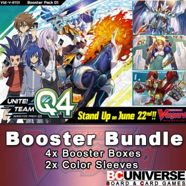 V-BT01 Unite! Team Q4 Cardfight Vanguard Booster Box Bundle