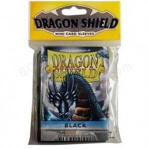 Dragon Shield Mini Sleeves - Black (50)