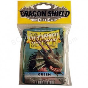 Dragon Shield Mini Sleeves - Green (50)