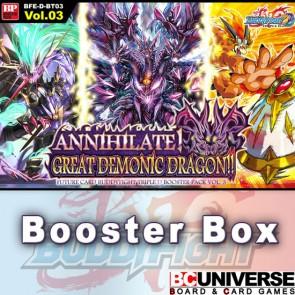 D-BT03: Annihilate! Great Demonic Dragon!! Future Card Buddyfight Triple D Booster Box