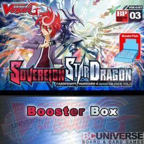 BT03 Sovereign Star Dragon (English) Cardfight Vanguard G Booster Box