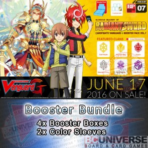 G-BT07 Glorious Bravery of Radiant Sword Cardfight Vanguard G Booster Box Bundle