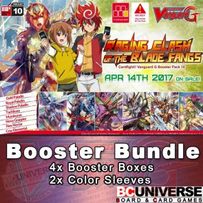 G-BT10 Raging Clash of the Blade Fangs Cardfight Vanguard G Booster Box Bundle