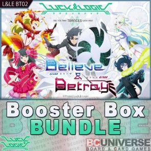 BT02 Believe & Betray Luck and Logic Booster Box Bundle