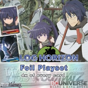 Log Horizon (English) Weiss Schwarz Extra Booster Foil Playset