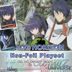 Log Horizon (English) Weiss Schwarz Extra Booster Non-Foil Playset